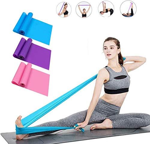 Elastiche Fitness Set di 3 Banda Elastica Fasce Resistenza per Fitness Yoga 1,5 Metri fasc, Yoga...