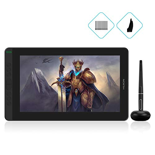 HUION Kamvas 13 2020 Graphics Drawing Tablet with Screen Pen Display with Full Laminated Screen Battery-Free Stylus 8192 Pressure Sensitivity Tilt 8 Express Keys-13.3inch, Green