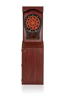 """Arachnid Cricket Pro 800 Standing Electronic Dartboard with Cherry Finish, Regulation 15.5"""" Target Area, 8-Player Score Display and 39 Games"""