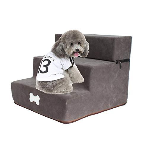 Mongrep Hundetreppe für Kleine Hunde, Abnehmbar 3-stöckig Treppe für Hunde, Waschbar Haustiertreppe, 30 * 35 * 30cm