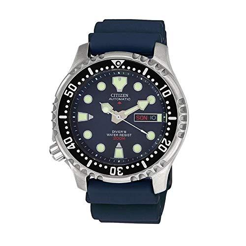 Citizen Reloj Analógico para Hombre de Automático con Correa en Plástico NY0040-17LE