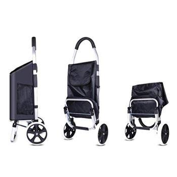 ZGYQGOO Chariot de magasinage Pliable Robuste avec 2 Roues, pour Les Jeunes et Les Vieux