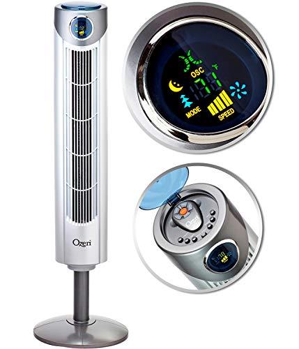 "Ozeri Ultra 42"" Wind Adjustable Oscillating Noise Reduction Technology Tower Fan"