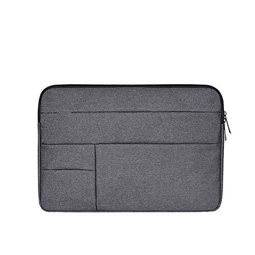 AINAAN Oxford Cloth Water Repellent Laptop Sleeve Case Cover with Pocket Compatible 13-13.3 Inch MacBook Pro/Air,Multi-Object Bag, Large Capacity, Deep Gray
