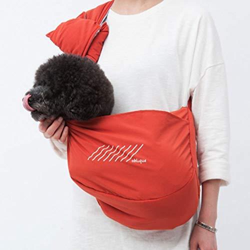 XDYFF Hundetasche für Kleine Hunde und Katzen Hundetrage Hunde Transporttasche Hundetragetuch Single Schulter Sling Bag für Haustier Hund Katze,Orange,S