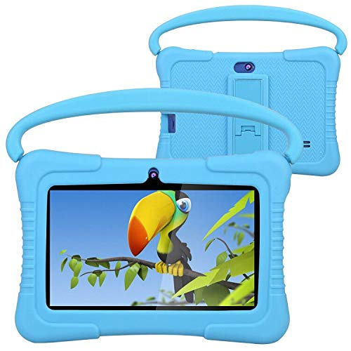 Kids Tablet, Foren-Tek 7 Inch Android 9.0 Tablet for Kids, 2GB +32GB, Kid Mode Pre-Installed, WiFi Android Tablet, Kid-Proof Case (Blue)