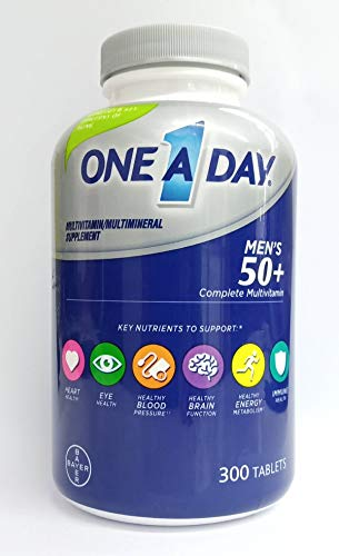 One-A-Day Men's 50 Plus Multivitamin Multimineral Supplement, 300 Tablets
