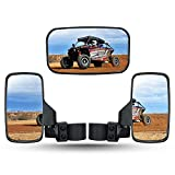UTV Rearview Side Mirror And Center Mirror Set 1.75' 2' Bar Compatible with Polaris RZR...