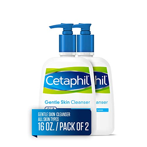 CETAPHIL Gentle Skin Cleanser | 16 fl oz (Pack of 2) | Hydrating Face Wash & Body Wash | Ideal for Sensitive, Dry Skin | Non-Irritating | Won't Clog Pores | Fragrance-Free | Dermatologist Recommended