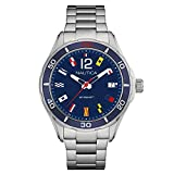 Nautica Men's Cruise NST 1 Flags NAPNSI805 Blue Stainless-Steel Quartz Fashion Watch