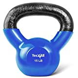 Yes4All Vinyl Coated Kettlebell Weights Set – Great for Full Body Workout and Strength Training...