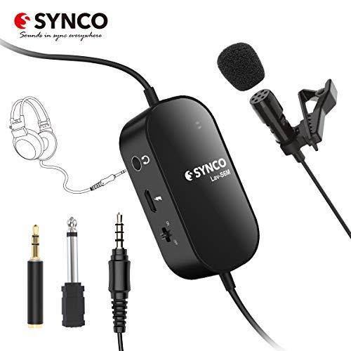 SYNCO Lavalier Mikrofon, Omnidirectional Kondensator Mic mit Audioüberwachung, USB Ansteckmikrofon 3,5mm-6,3mm TRRS-TRS für Smartphone iPhone Huawei Samsung, PC Computer, Kamera DSLR Camcorder Lav-S6M