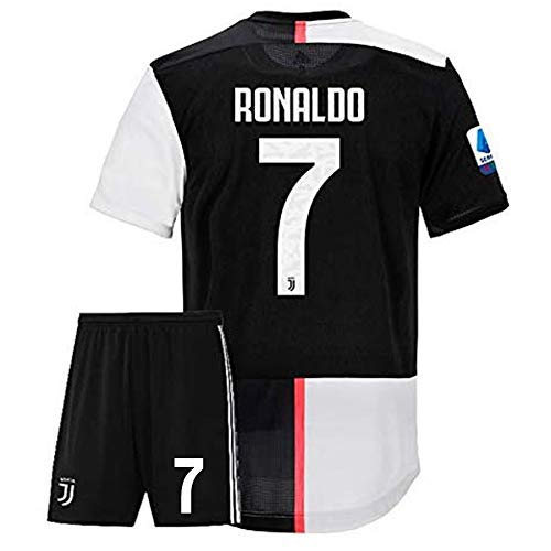 ## Ronaldo 7 Printed Juventus Jersey/SERIA A Juventus Football Jersey with Shorts/Imported Master Quality/TRI Colour TAG (M)