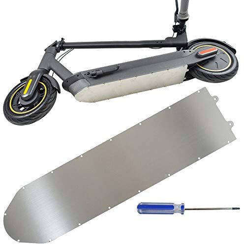 Andifany Scooter EléCtrico Chasis de ProteccióN de Aluminio Placa Protectora de Metal Cubierta Inferior de la BateríA de la Armadura para Ninebot MAX G30