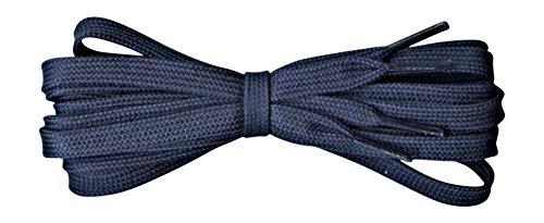 Fabmania Cordones planos de algodón para zapatos - 8 mm de ancho - Azul marino - Largo 140cm