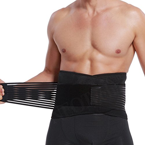 Lumbar Support with Double Banded Strong Compression Pull Straps, Breathable Waist/Lower...