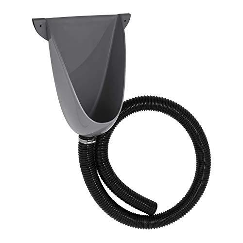 Agande Urinal Kunststoff einfach und wasserlos, mit Schlauch und Schlauchschelle für Camping Garten Keller Baustelle WC