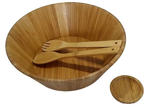 Large salad bowl. Mixing bowls. 13' Bamboo bowl with serving spoons and dressing tray. Serving bowls. Prep bowls. Fruit bowl. Mixing bowl set. Wooden basket. Salad bowl set.