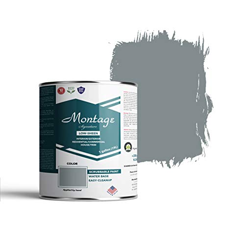 Montage Signature Interior/Exterior Eco-Friendly Paint, Blue...