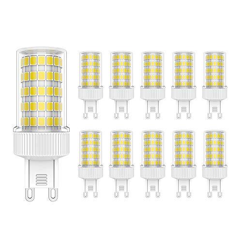 Lampadine G9 LED 10W Equivalente a 80W Lampada Alogena,800 LM,Bianca Fredda 6000K, Confezione da 10