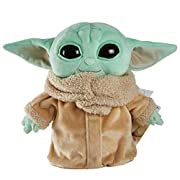 """This 8-inch The Child plush toy will capture the hearts of Star Wars fans everywhere! Inspired by the Disney+ series, The Mandalorian, the adorable figure with green skin, big ears and large eyes looks like a baby Yoda but is called """"The Child."""" T..."""