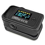 Santamedical Dual Color OLED Pulse Oximeter Fingertip, Blood Oxygen Saturation Monitor (SpO2) with Case,...
