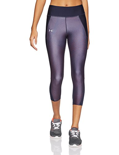 Under Armour Fly by Printed Capri Women's Sports Leggings (1297934_Midnight Navy and Pomegranate_X-Small)