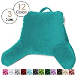 Nestl Reading Pillow, Medium Bed Rest Pillow with Arms for Kids Teens & Adults – Premium Shredded Memory Foam TV Pillow - Teal