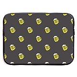 Taza de Cerveza Brillante Simple Bolsas para computadora portátil Compatible con Tableta Netbook de 15 ″, Maletín con Funda de Pringting Funda de Transporte con Funda de Bolso