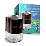 Officeline Electric Pencil Sharpener - for School and Classroom, Helical Steel Blade Sharpens All Pencils Including Color, Auto-Stop Feature, Ultra-Portable - Batteries Included