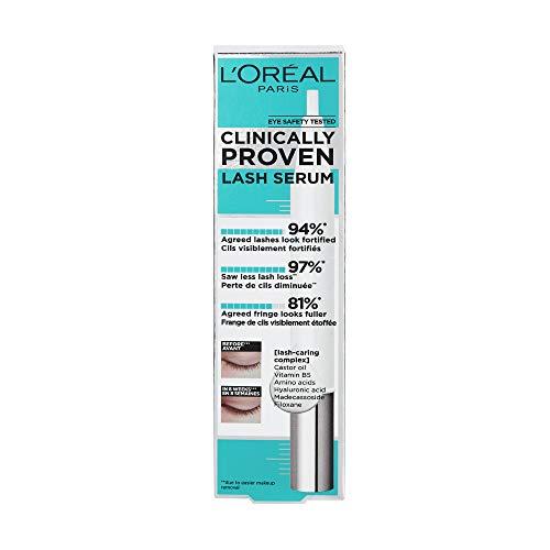 L'Oréal Paris Sérum de Pestañas Clinically Proven, Fuerza y Volumen, Con Vitamina B5 y Ácido Hialurónico, 17 ml