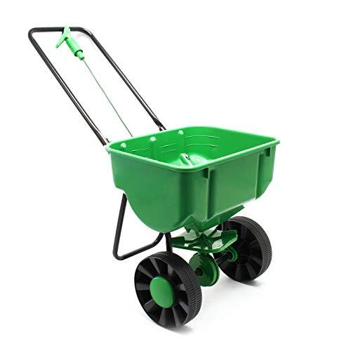 Streuwagen 25kg mit Kunststoffreifen für Dünger Saatgut Streusalz