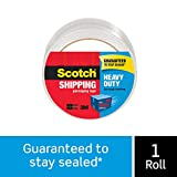 Scotch Heavy Duty Shipping Packaging Tape, 1.88' x 65.6 Yards, Clear, Great for Packing, Shipping & Moving, 1 Roll (3850-60)
