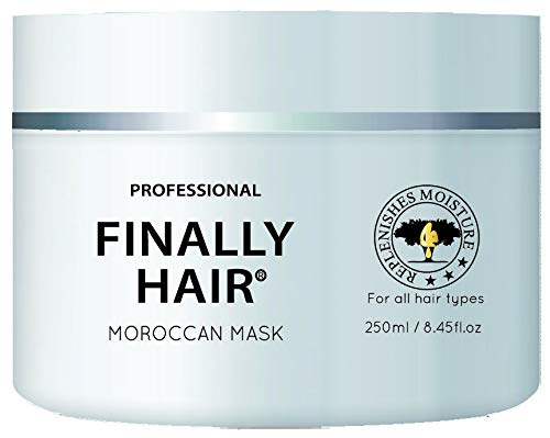 Hair Mask - Hydrating Argan Oil Hair Mask and Deep Conditioner By Finally Hair for Dry or Damaged Hair - 8.45 Oz Hair Reviver