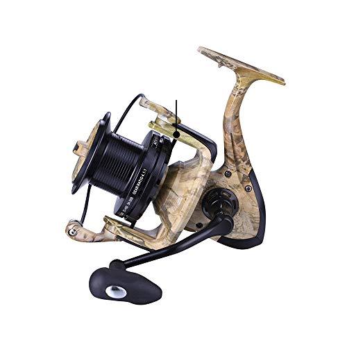 Hifanei Mulinello da pesca camouflage 8000 Bobina di metallo Saltwater Catfish Surf casting Mulinello da pesca Distant Wheel