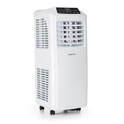 Klarstein Pure Blizzard 3 2G - Condizionatore Portatile, 3in1: Raffrescatore, Ventilatore, Deumidificatore, 7.000 BTU/2,1 kW, Guarnizione per Finestre, Telecomando, Bianco