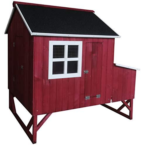 Omitree Deluxe Large Backyard Wood Chicken Coop...