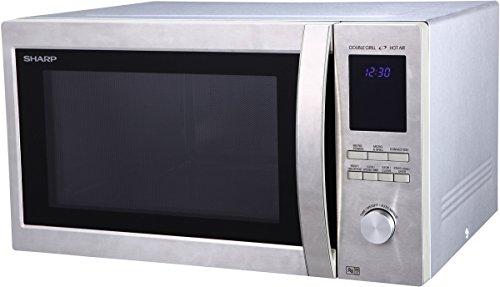 Sharp R-982STWE - Micro-ondes combiné très grande capacité 42 litres - Finition Inox