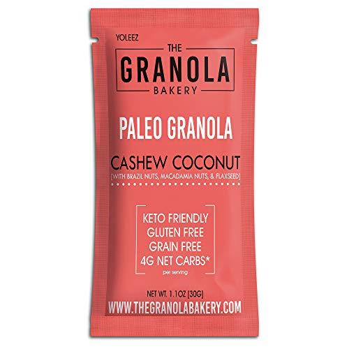 ELAN Paleo Granola Shots (Cashew Macadamia Brazil Nut, 10 Pack)