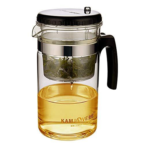 Teekanne Glaskanne Teeservice Filtersieb 500ml Kamjove (Since1989) Art Glass Teapot Gongfutee Glas Teebereiter All-in-one-Set Tee und Kaffee -ausbaubarer Infuser