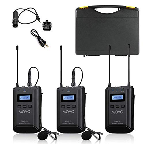 Movo WMX-20-DUO 48-Channel UHF Wireless...