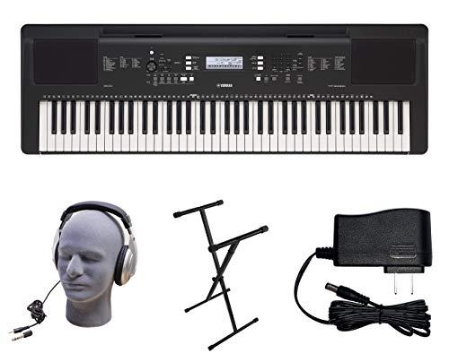 Yamaha PSR-EW310 PKS 76-Key Premium Keyboard Pack with Power Supply, X-Style Stand, and Headphones, YAM PSREW310