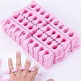 50 divisores de dedos de esponja de espuma suave divisor de dedos divisor de dedos de ...