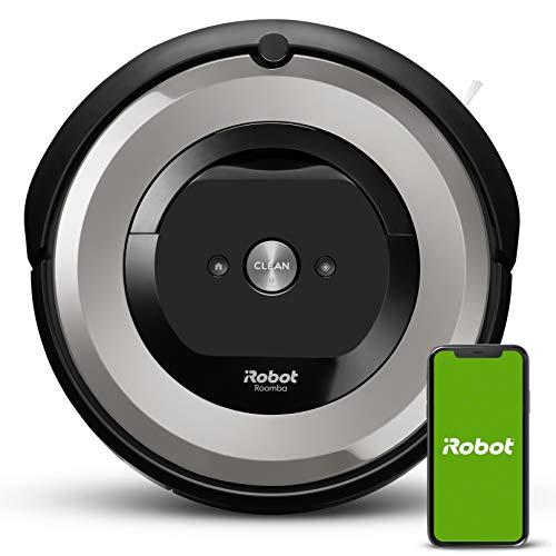 iRobot Roomba e5154 Wifi, Robot aspirador óptimo para mascotas, aspiración alta potencia, 2 cepillos goma, alfombras y suelos, Dirt Detect,...