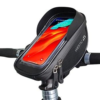 WESTIC LT-19 Bolsa de Manillar de Bicicleta, Impermeable, Pantalla de Montaje de teléfono de hasta 6.4 '. Adecuada para iPhone Samsung Galaxy de Apple y Otros teléfonos Inteligentes.