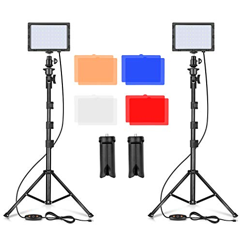 Emart LED Video Light 11 Brightness/4 Color Filters Dimmable...