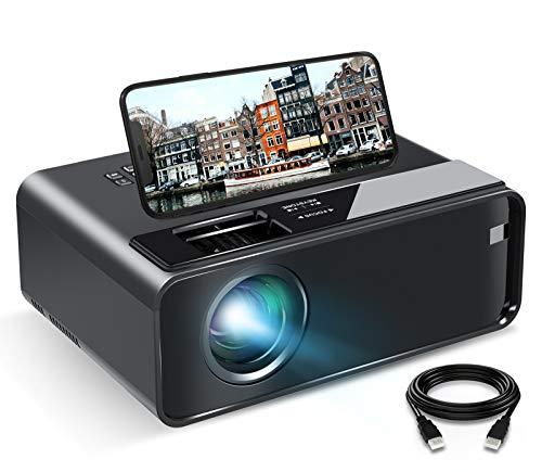 Videoprojecteur WiFi, ELEPHAS Mini Projecteur avec Recopie de l'écran (Affichage sans Fil) Portable 1080p Full HD Multimédia Home Cinéma Compatible avec la clé TV, Ordinateur Portable, Téléphone