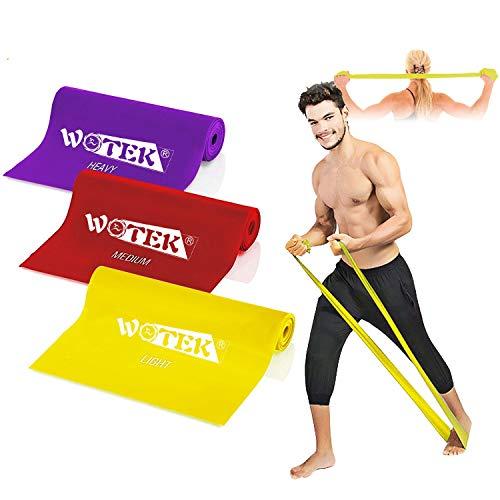 3 pezzi Banda Elastica Fitness con 3 livelli di resistenza: 1.5m/1.8m/2m Banda Elastica per uomo e...