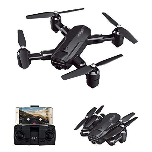QqHAO Drone GPS 4K HD videocamera Aerea Pieghevole quadricottero 5G Telecomando Aereo Giocattolo,Nero,1080 Optical Flow