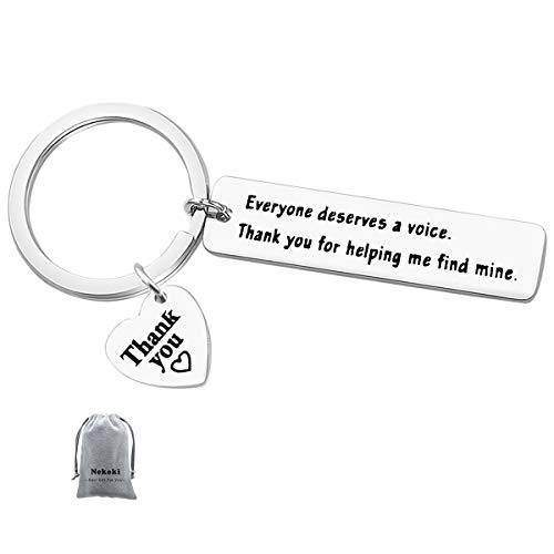 For Speech Therapist Gift Everyone Deserves A Voice Keychain...